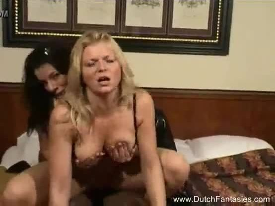 Dutch MILF Interracial Threesome Ride